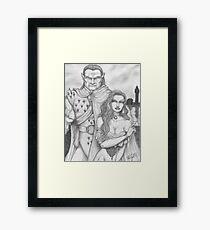 Teelia and Guard Framed Print
