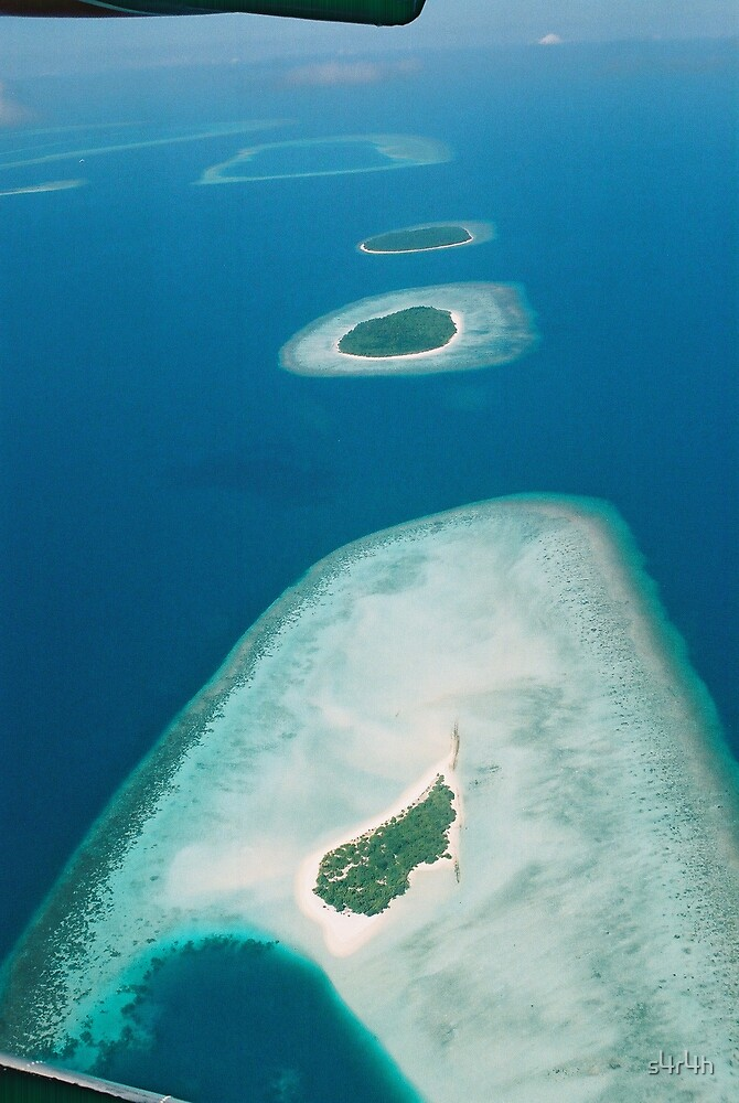 Maldives from above by s4r4h