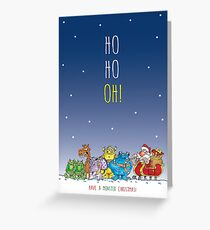 Oh No Santa Greeting Card