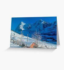 Eiger Winter Scene Greeting Card