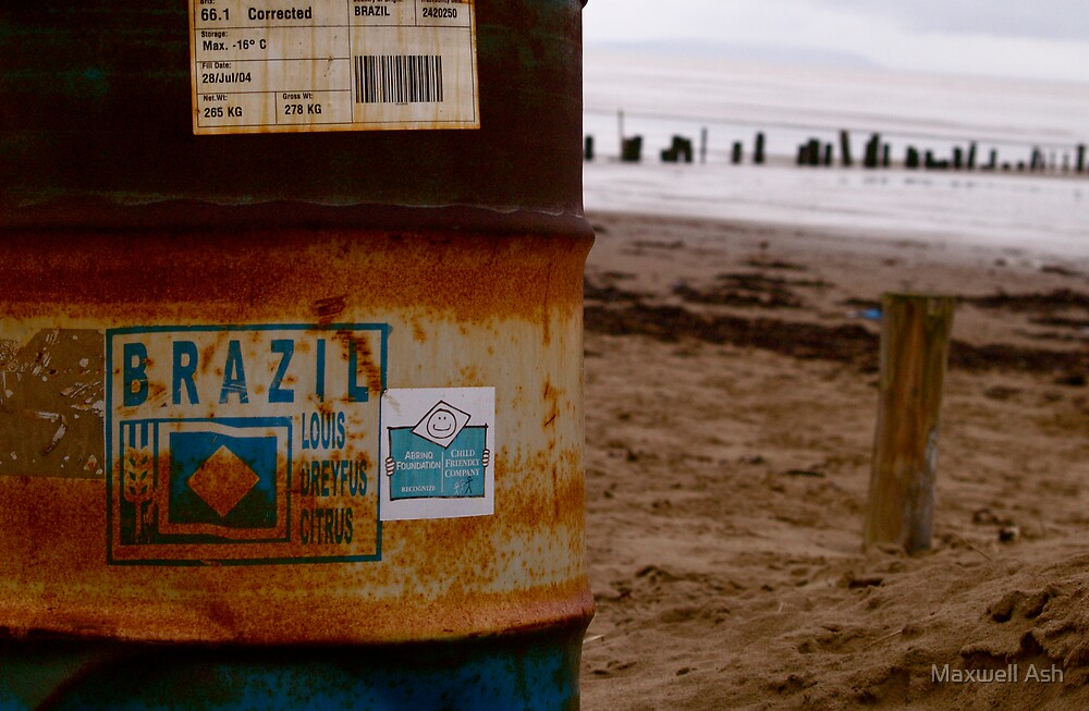 Oil from Brazil at Brean by Maxwell Ash