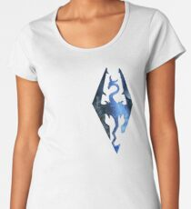 Skyrim Logo - Magic Women's Premium T-Shirt