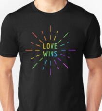 LOVE WINS GAY PRIDE  Unisex T-Shirt