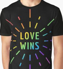 LOVE WINS GAY PRIDE  Graphic T-Shirt