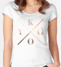 KYGO White Women's Fitted Scoop T-Shirt