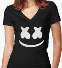 Marshmello - Black Women's Fitted V-Neck T-Shirt