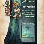 Arcane Electronics Store Mock Ad by Bobbie Berendson W. by Bobbie Berendson W