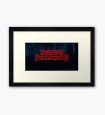 Our Logo Stranger Things Style Framed Print