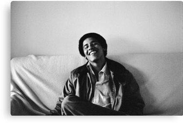 Young Obama Canvas Print