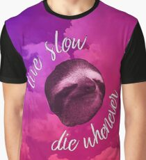 Live Slow, Die Whenever - Clouds Graphic T-Shirt