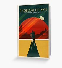SpaceX Mars Colonization and Tourism Association: Phobos & Deimos Greeting Card