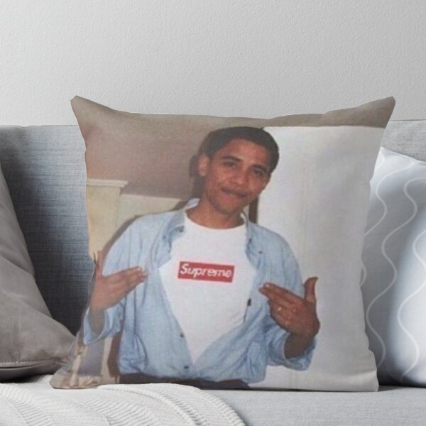 Young Obama Throw Pillow