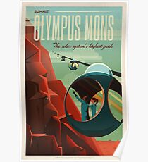 SpaceX Mars Kolonisations- und Tourismusverband: Olympus Mons Poster