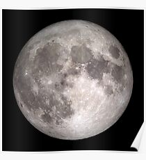 The Full Moon - HD Photo Of the Moon -  Poster