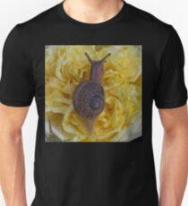 Happy Land Snail-Terrestrial Gastropod Mollusk (Escargot on the Move!)  Unisex T-Shirt