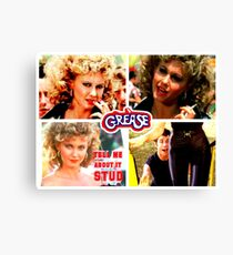 GREASE - SANDY - TELL ME ABOUT IT STUD - COLLAGE #2 Canvas Print