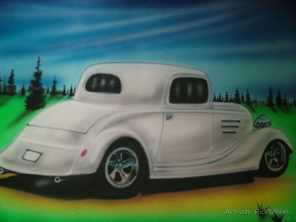hot rod canvas by Airbrushr  Rick Shores