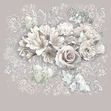 Antique White Flowers by aura2000