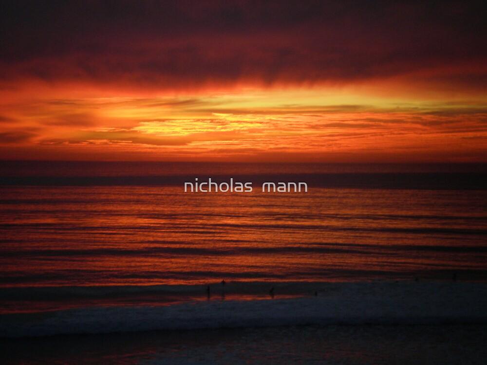 cali sunset by nicholas  mann