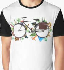 Global Bicycle round the world - save the planet design Graphic T-Shirt