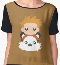 Calvin and Hobbes T-Shirt Chiffon Top