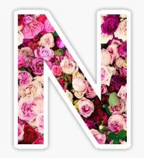 N Initial  Sticker