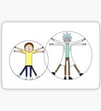 Rick and Morty da Vinci Sticker
