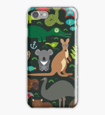 Funny australian animals iPhone Case/Skin