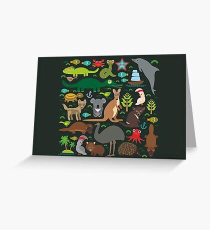 Funny australian animals Greeting Card