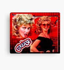 GREASE - SANDY - COLLAGE - RED Canvas Print