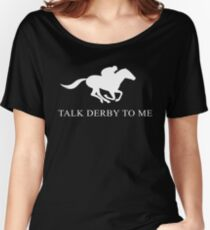 Gespräch Derby zu mir lustiges T-Shirt Baggyfit T-Shirt