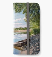 "Oil painting ""On the river"" iPhone Wallet/Case/Skin"