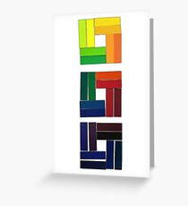 Collage - Color Strip Stack Greeting Card