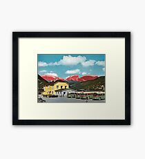 Meaty Mountains Framed Print