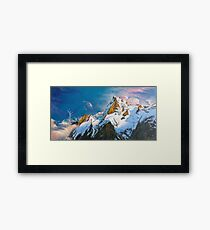 "Oil painting ""Mountain"" Framed Print"
