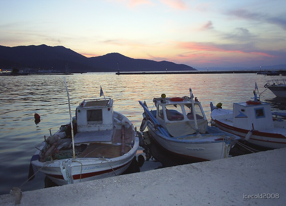 Greek Fishing Boats - Thassos Town by icecold2008