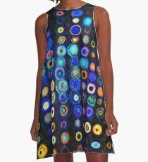 Organised Multiverses - Vibrant seamless pattern A-Line Dress