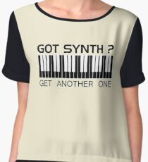 Got Synth Black Color Chiffon Top