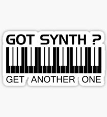 Got Synth Black Color Sticker