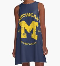 Michigan + Nickname - Vintage & Retro A-Line Dress