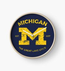 Michigan + Nickname - Vintage & Retro Clock
