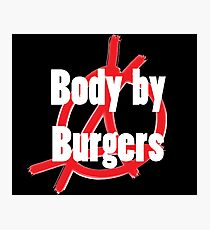 Body by Burgers Black Photographic Print