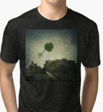 Greening of the foggy town Tri-blend T-Shirt