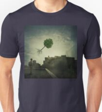 Greening of the foggy town Unisex T-Shirt