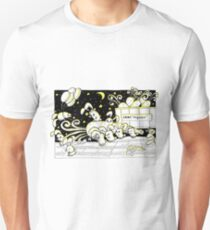 Rabbits unload car with carrots at night Unisex T-Shirt