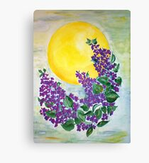 Midsummernight lilacs Canvas Print