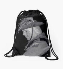 Contemplating Past Sacrifices Drawstring Bag