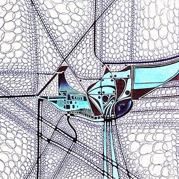 Alien Bird - Illustration  by BrunoBeach