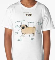Anatomy of a Pug Long T-Shirt