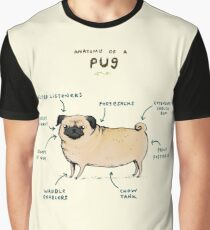 Anatomy of a Pug Graphic T-Shirt
